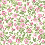 Moda - Sakura Park - 7185 - Small Pink Cherry Blossom on Cream - 33481-11 - Cotton Fabric